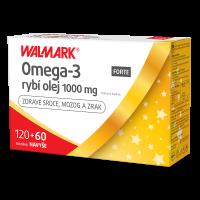 Walmark Omega 3 FORTE rybí olej 1000mg 120+60 toboliek