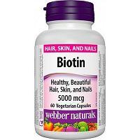Webber Naturals Biotin 5000 mcg 60cps