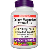 Webber Naturals Calcium + Magnesium + D3 90tbl