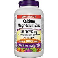 Webber Naturals Calcium + Magnesium + Zinok 100 +100tbl