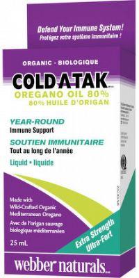 Webber naturals Cold Atak 80% oregano oil