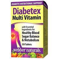 Webber Naturals Diabetex multivitamín - pre diabetikov 120tbl