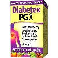 Webber Naturals Diabetex PGX + moruša - pre diabetikov 80tbl