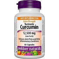 Webber Naturals Kurkumín 500 mg FORTE (12 500 mg) 95% kurkumin. 60cps