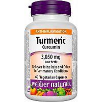Webber Naturals Kurkumín 600 mg extrakt 50:1 95% kurkuminoidov 60vcps