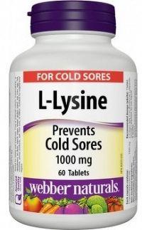 Webber Naturals L - Lysine 1000mg 60cps