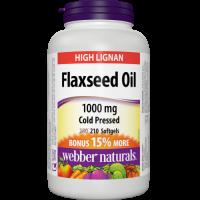 Webber Naturals Ľanový olej 1000 mg Bonus 210sg