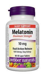 Webber Naturals Melatonin 10 mg s postupným uvoľňovaným 60tbl