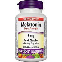 Webber Naturals Melatonín 5mg 60 tabliet