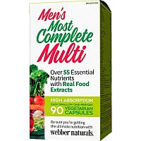 Webber Naturals Najkompletnejší multivitamín pre mužov, 55 zložiek 90vcps