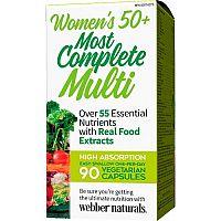 Webber Naturals Najkompletnejší multivitamín pre ženy 50+, 55 zložiek 90vcps