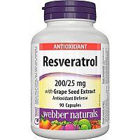 Webber Naturals Resveratrol 200 mg 90cps