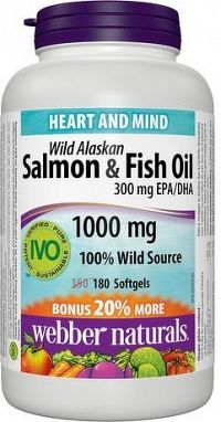 Webber Naturals Salmon & Fish Oil 180 cps
