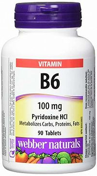 Webber Naturals Vitamín B6 (pyridoxín) 100 mg 90 tbl.