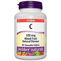 Webber Naturals Vitamín C 500 mg cmúľacie tablety 2+1 ZADARMO 90past