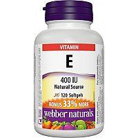 Webber Naturals Vitamín E 400 IU prírodný zdroj BONUS 120tbl