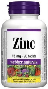 Webber Naturals Zinok 15 mg tbl 1x90 ks