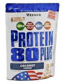 Weider Protein 80 Plus, 500g - kokos