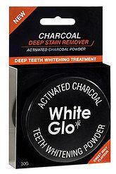 WHITE GLO CHARCOAL Bieliaci zubný púder 1x30 g