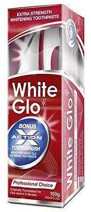 White Glo Profesionálne bieliaca zubná pasta 150 g + kefka na zuby a medzizubné kefky