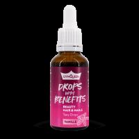 GYMQUEEN Drops with Benefits Beauty Hair & Nails 30 ml vanilka