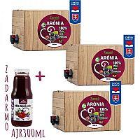 100% ovocná šťava BIO Arónia 3x 5L + ARJ300ml ZADARMO Zamio, s.r.o.