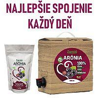 100% šťava BIO Arónia 3L a sušené plody Arónia 250g Zamio, s.r.o.