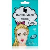 AA Cosmetics AA Bubble Mask osviežujúca  maska 2 x 4 ml