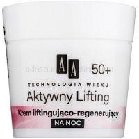 AA Cosmetics Age Technology Active Lifting nočný regeneračný spevňujúci krém 50+ 50 ml