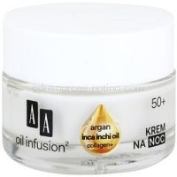 AA Cosmetics Oil Infusion2 Argan Inca Inchi 50+ nočný regeneračný krém s remodelujúcim účinkom 50 ml