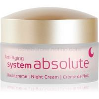 ANNEMARIE BÖRLIND System Absolute - System Anti - Aging regeneračný nočný krém proti príznakom starnutia  50 ml