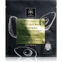 Apivita Express Beauty Avocado plátenná maska s hydratačným a upokojujúcim účinkom 10 ml