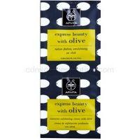 Apivita Express Beauty Olive hĺbkovo čistiaci peeling na tvár 2 x 8 ml