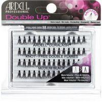 Ardell Double Up trsové nalepovacie mihalnice bez uzlíka veľkosť Medium Black