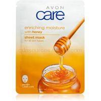 Avon Care plátenná maska pre všetky typy pleti Honey 1 ks