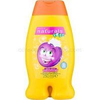 Avon Naturals Kids šampón a kondicionér 2 v1 pre deti s vôňou Perky Plum 250 ml