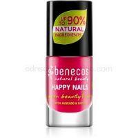 Benecos Happy Nails ošetrujúci lak na nechty odtieň Hot Summer 5 ml