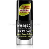 Benecos Happy Nails ošetrujúci lak na nechty odtieň Licorice 5 ml