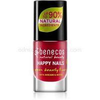 Benecos Happy Nails ošetrujúci lak na nechty odtieň Vintage Red 5 ml