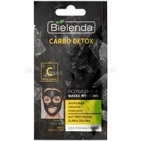 Bielenda Carbo Detox Active Carbon čistiaca maska s aktívnym uhlím pre mastnú a zmiešanú pleť  8 g