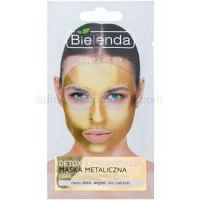 Bielenda Metallic Masks Gold Detox regeneračná a detoxikačná maska pre zrelú pleť  8 g