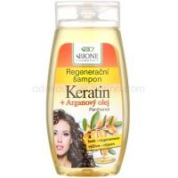 Bione Cosmetics Keratin Argan regeneračný šampón na lesk a hebkosť vlasov 260 ml