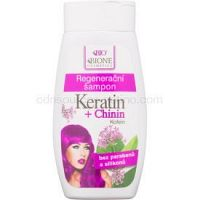 Bione Cosmetics Keratin + Chinin regeneračný šampón 260 ml