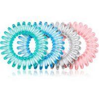 BrushArt Hair Rings Colour gumičky do vlasov 4 ks Clear Mix 4 ks
