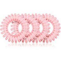 BrushArt Hair Rings Colour gumičky do vlasov 4 ks Clear Pink 4 ks