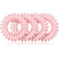 BrushArt Hair Rings Colour gumičky do vlasov Clear Pink 4 ks