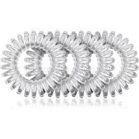 BrushArt Hair Rings Natural gumička do vlasov 4 ks Clear