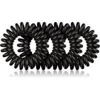 BrushArt Hair Rings Natural gumičky do vlasov 4 ks Black
