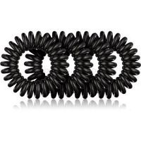 BrushArt Hair Rings Natural gumičky do vlasov 4 ks Black 4 ks