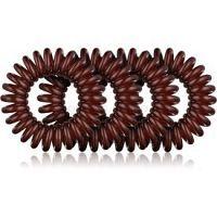 BrushArt Hair Rings Natural gumičky do vlasov 4 ks Brown 4 ks